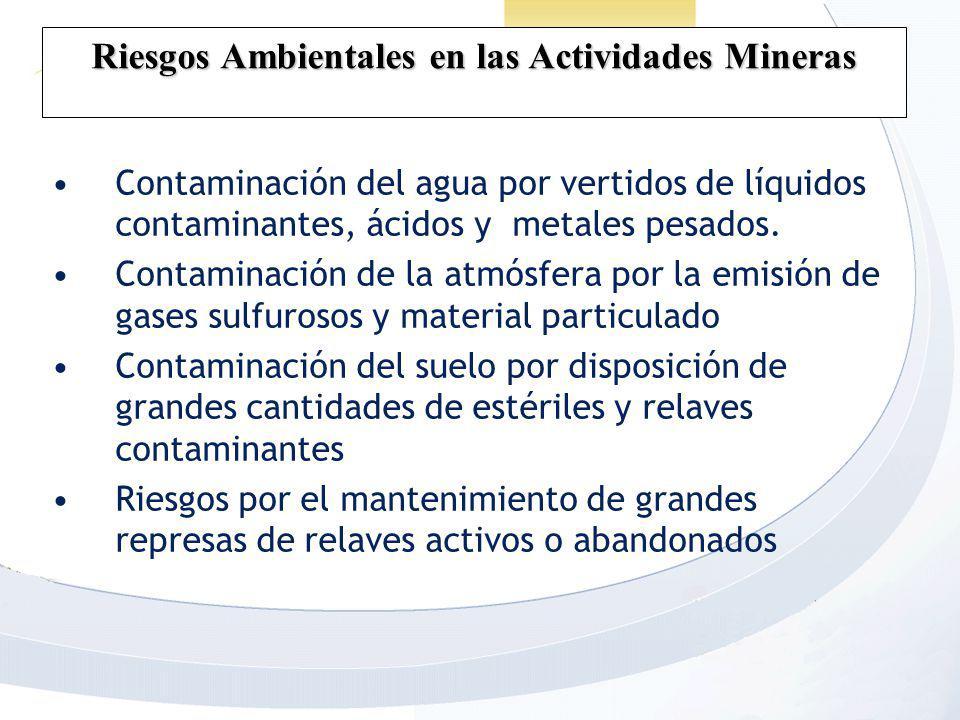 Riesgos Ambientales en las Actividades Mineras