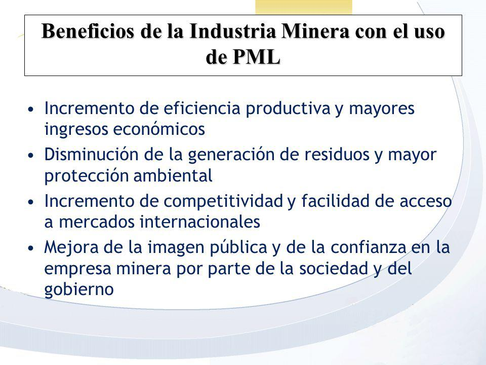 Beneficios de la Industria Minera con el uso de PML