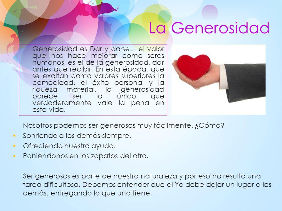 La Generosidad