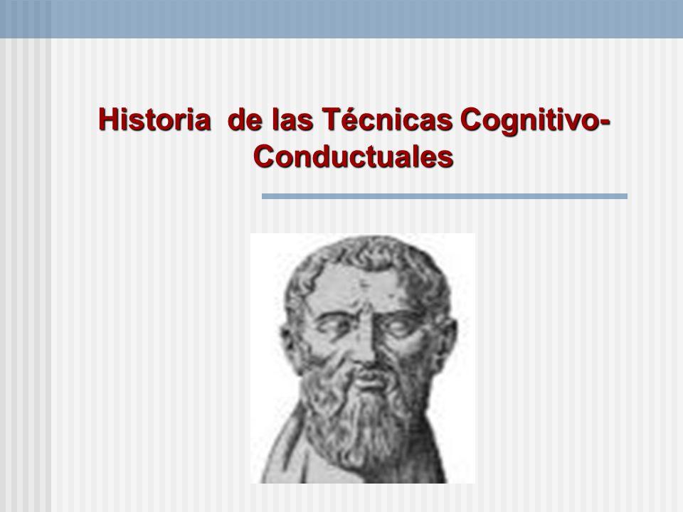 Historia de las Técnicas Cognitivo-Conductuales