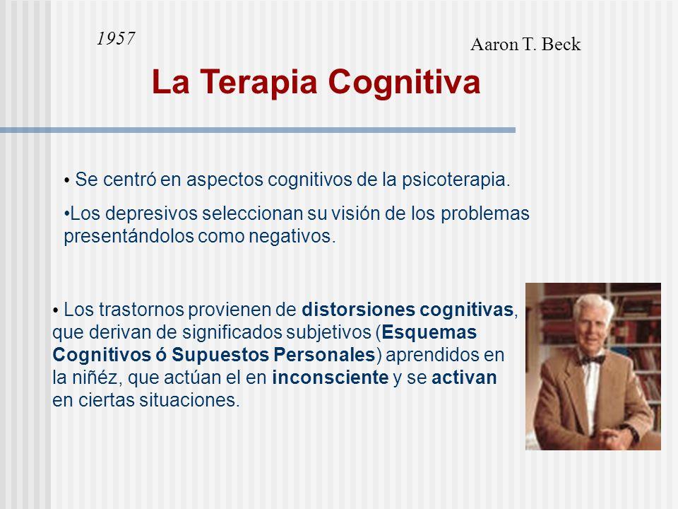 La Terapia Cognitiva 1957 Aaron T. Beck