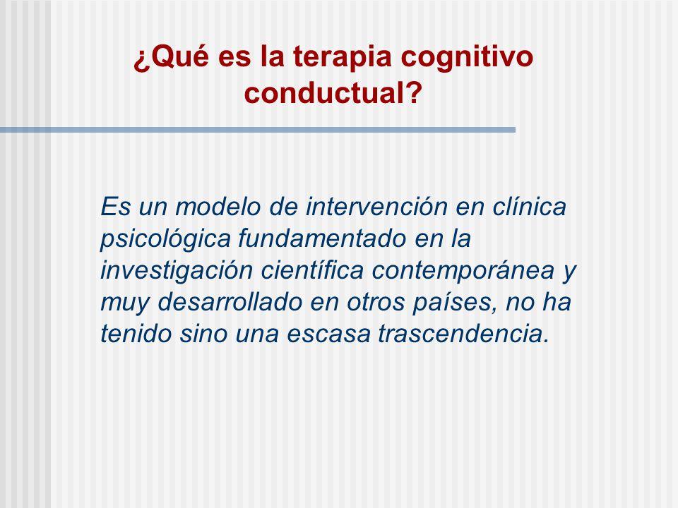 ¿Qué es la terapia cognitivo conductual