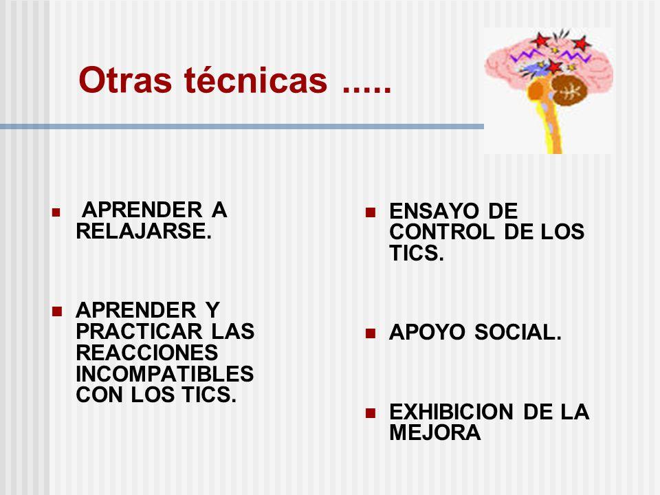 Otras técnicas ..... ENSAYO DE CONTROL DE LOS TICS. APOYO SOCIAL.