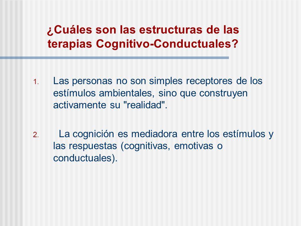 ¿Cuáles son las estructuras de las terapias Cognitivo-Conductuales