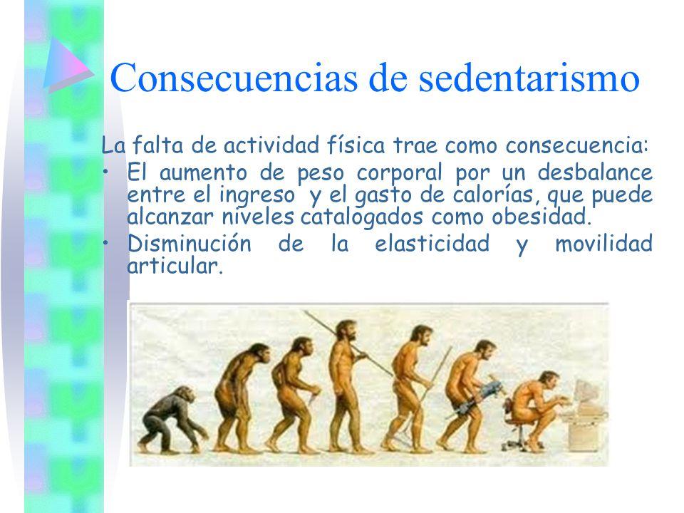 Consecuencias de sedentarismo