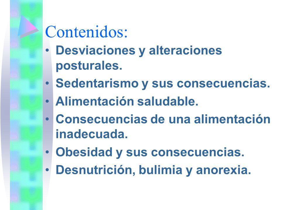 Contenidos: Desviaciones y alteraciones posturales.