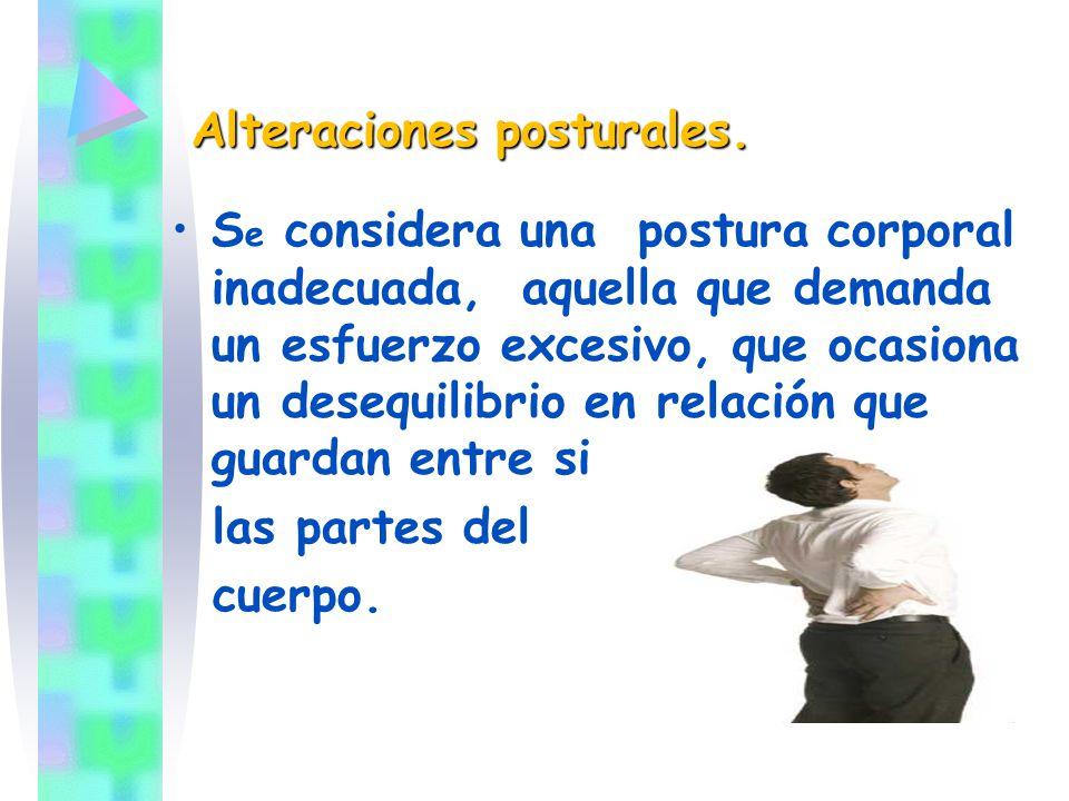 Alteraciones posturales.
