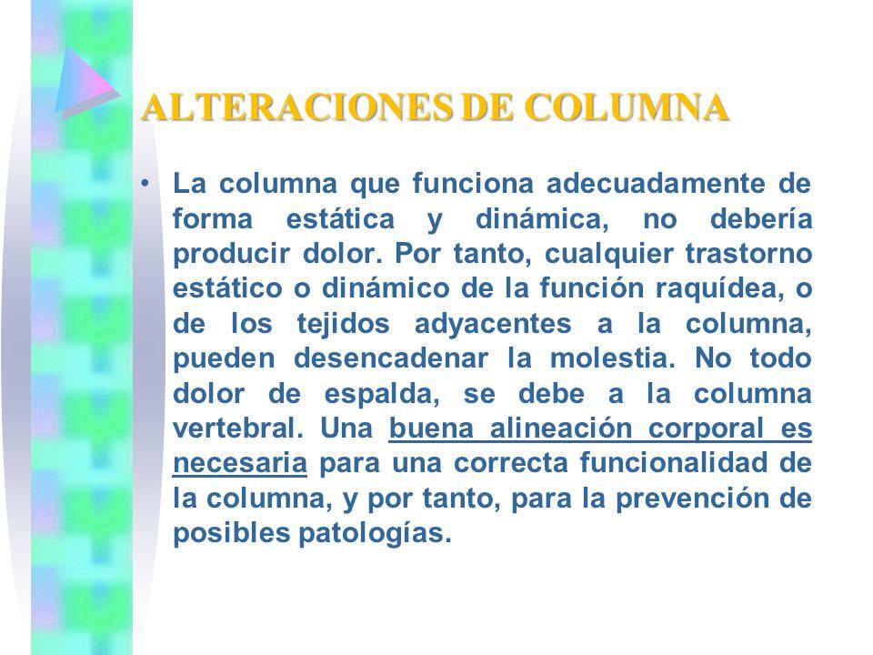 ALTERACIONES DE COLUMNA