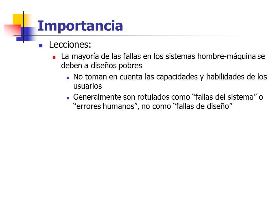 Importancia Lecciones: