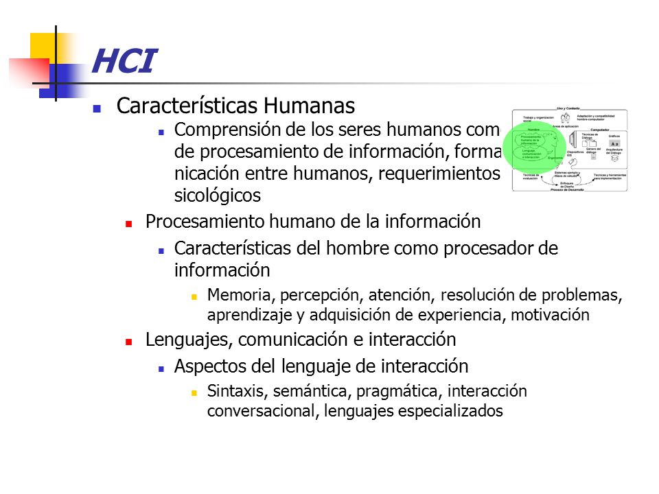 HCI Características Humanas