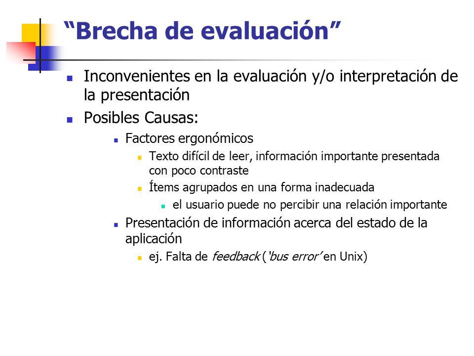 Brecha de evaluación