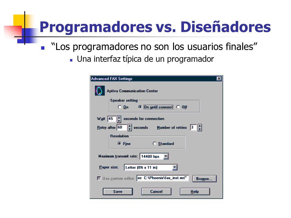 Programadores vs. Diseñadores