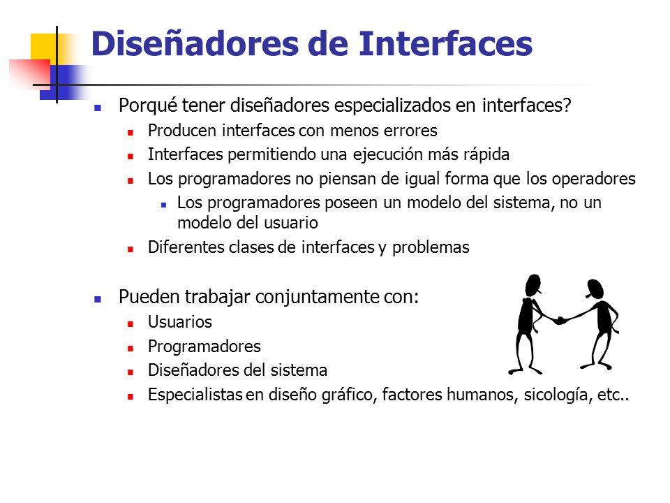 Diseñadores de Interfaces