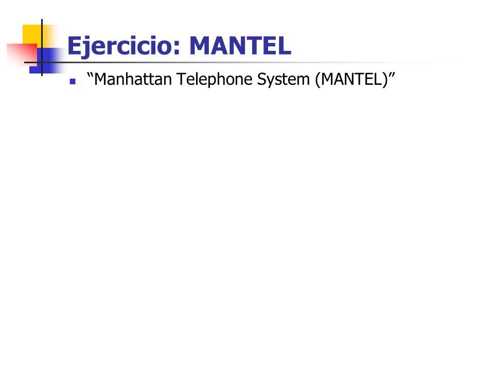 Ejercicio: MANTEL Manhattan Telephone System (MANTEL)