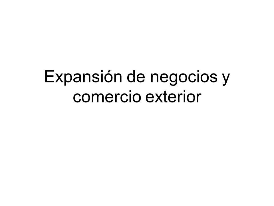 Expansión de negocios y comercio exterior