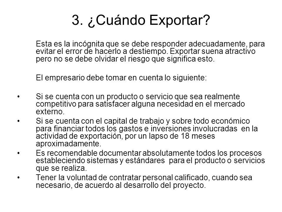 3. ¿Cuándo Exportar
