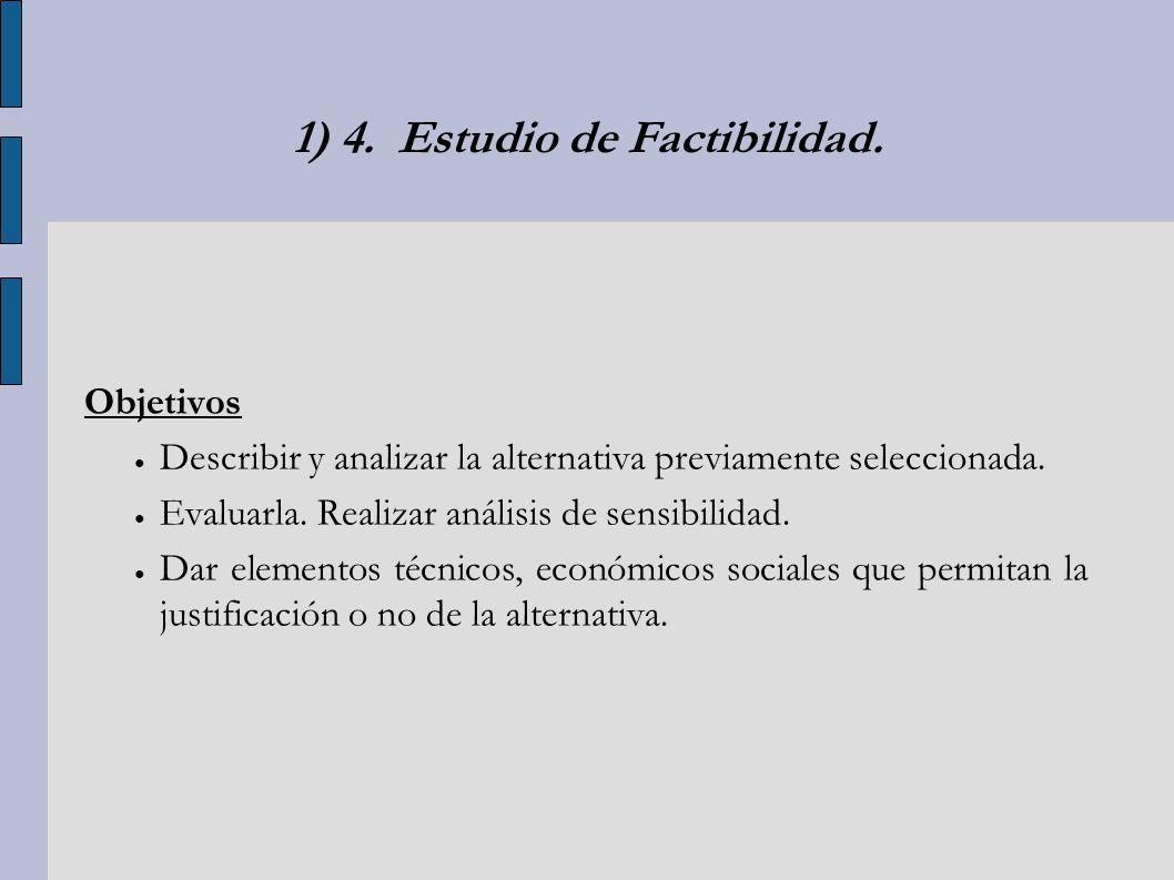 1) 4. Estudio de Factibilidad.