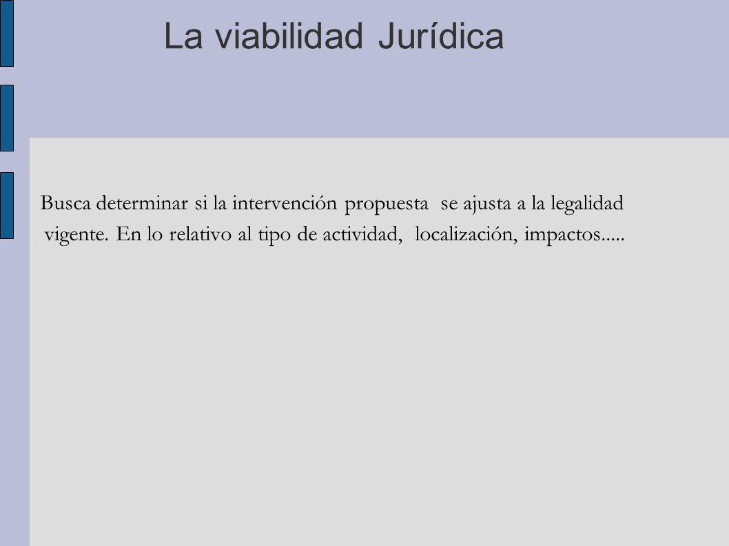 La viabilidad Jurídica