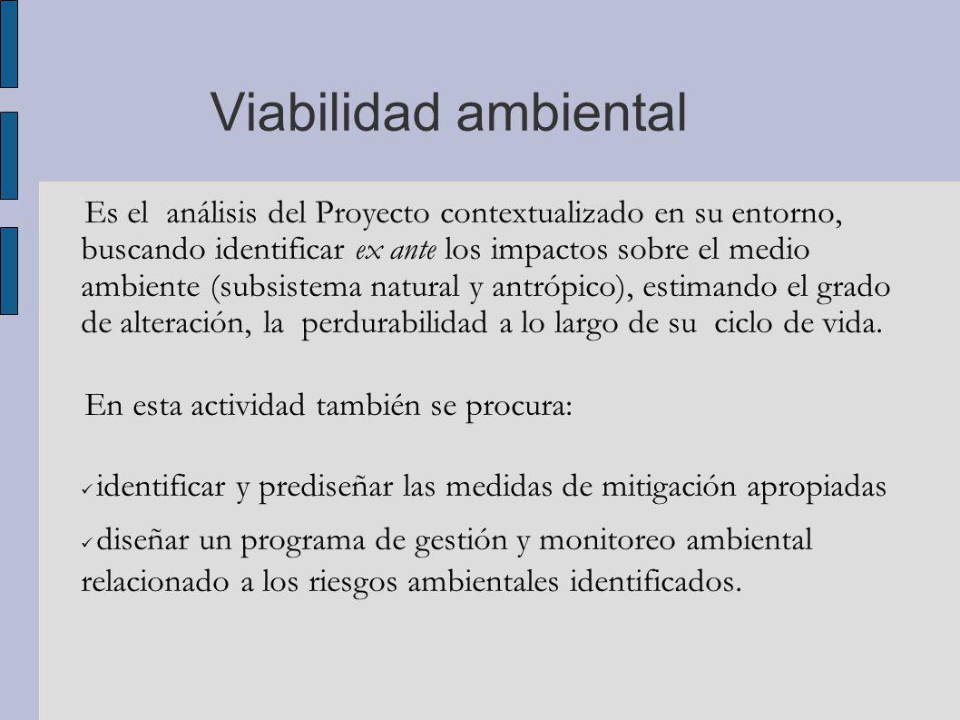 Viabilidad ambiental