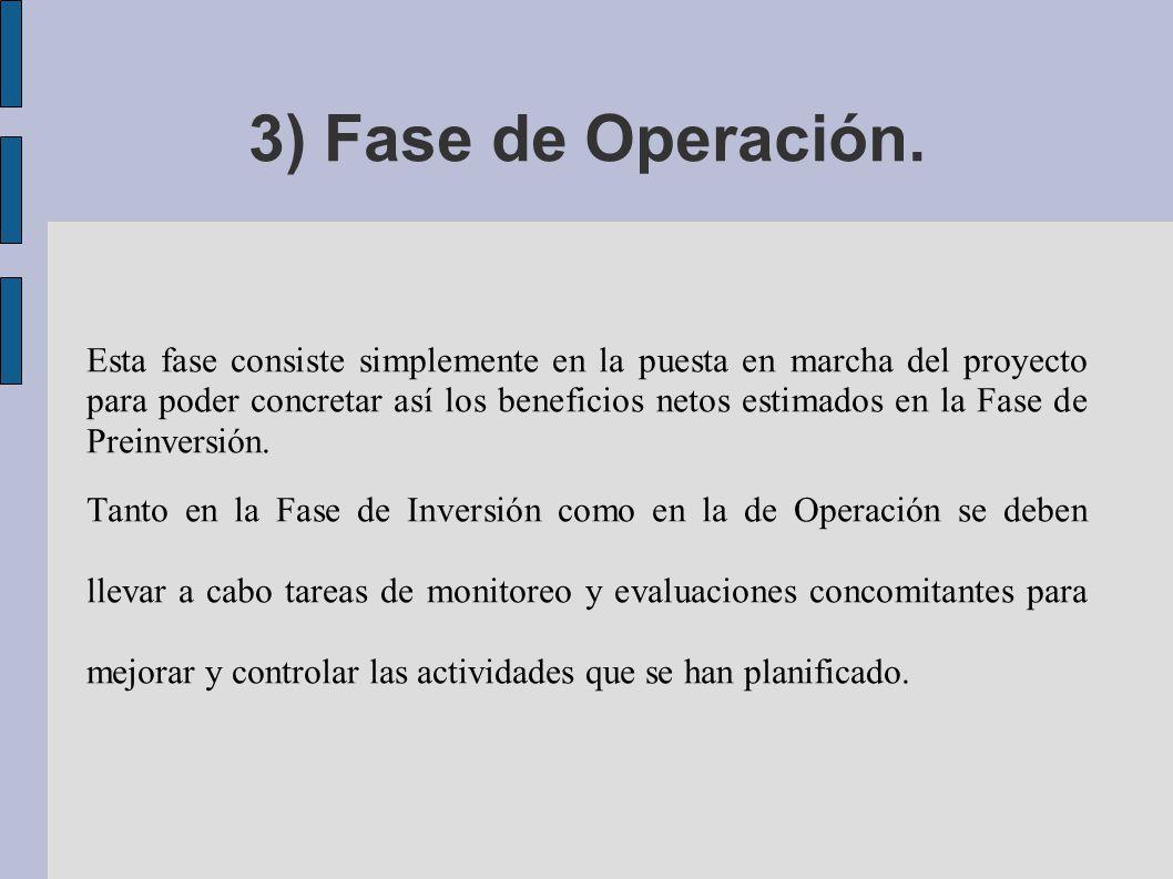 3) Fase de Operación.