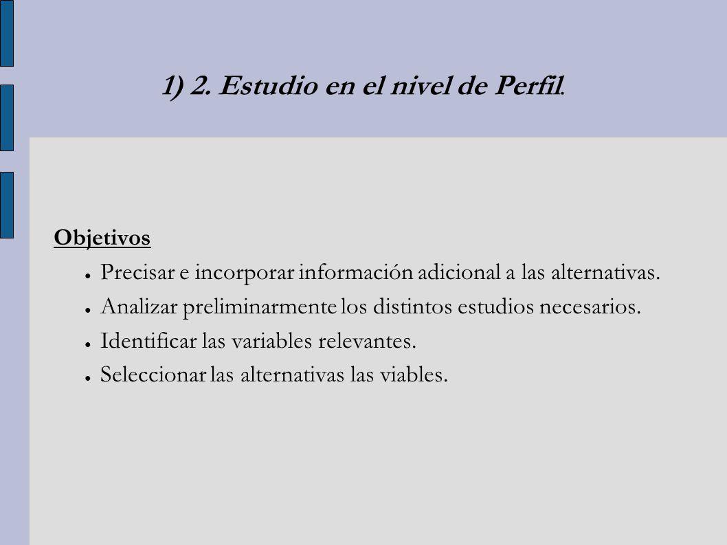 1) 2. Estudio en el nivel de Perfil.