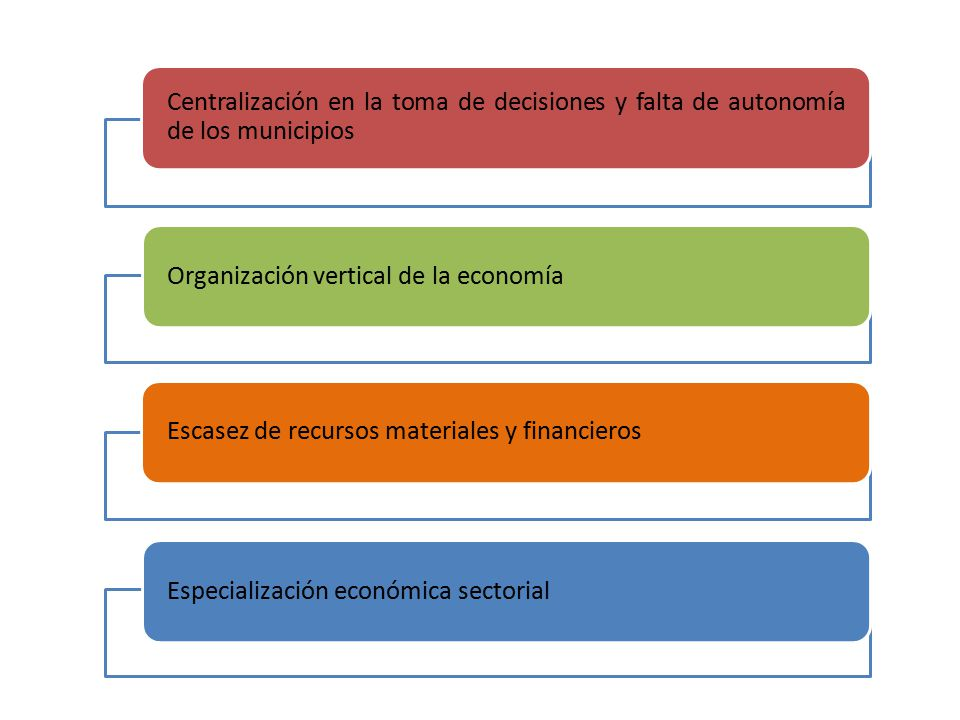 Centralización en la toma de decisiones y falta de autonomía de los municipios