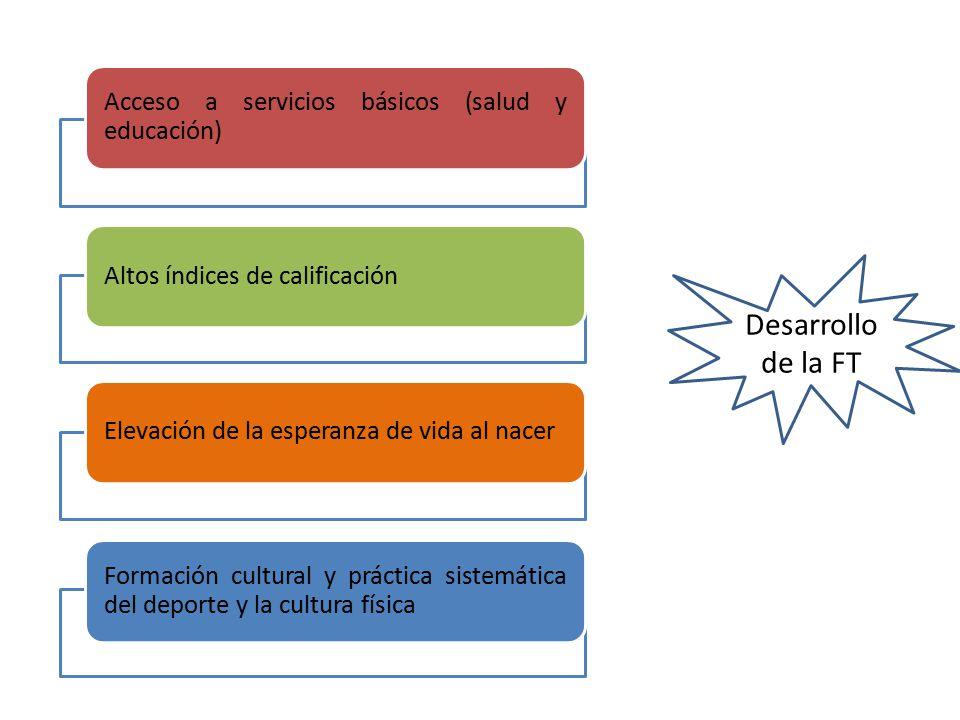 Desarrollo de la FT Acceso a servicios básicos (salud y educación)