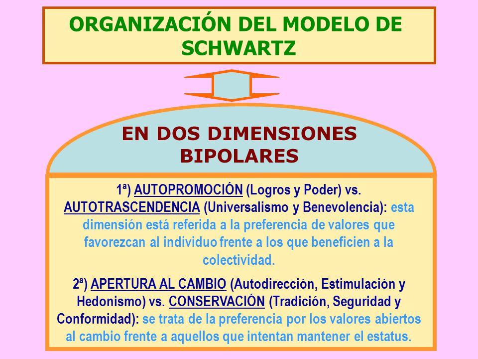 ORGANIZACIÓN DEL MODELO DE EN DOS DIMENSIONES BIPOLARES