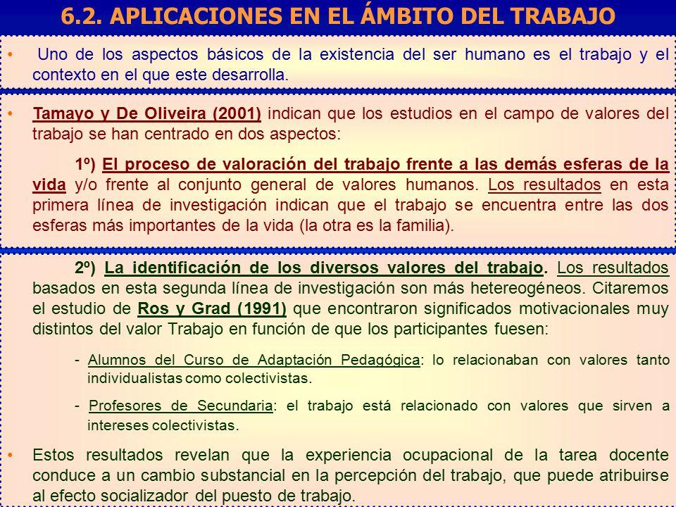 6.2. APLICACIONES EN EL ÁMBITO DEL TRABAJO