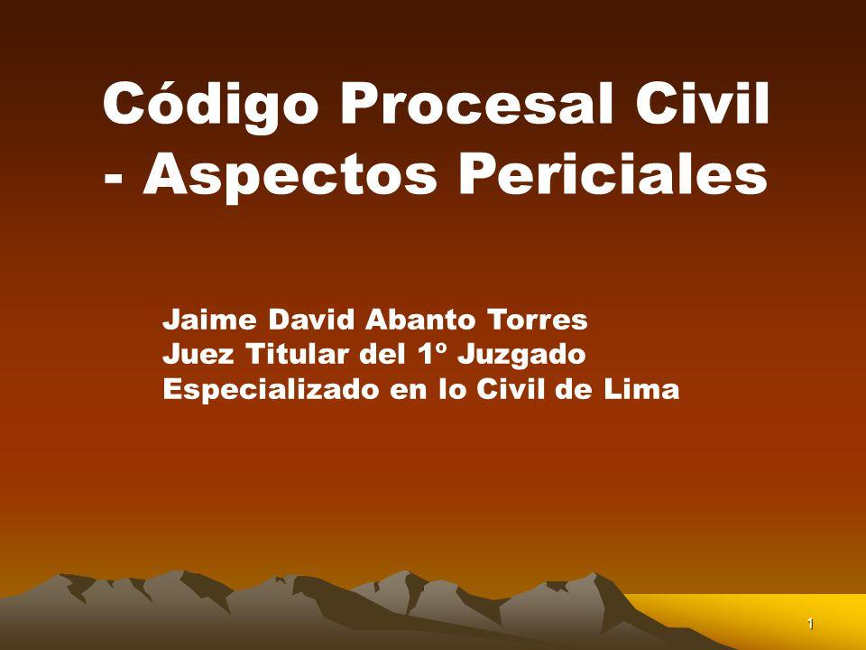 Código Procesal Civil - Aspectos Periciales