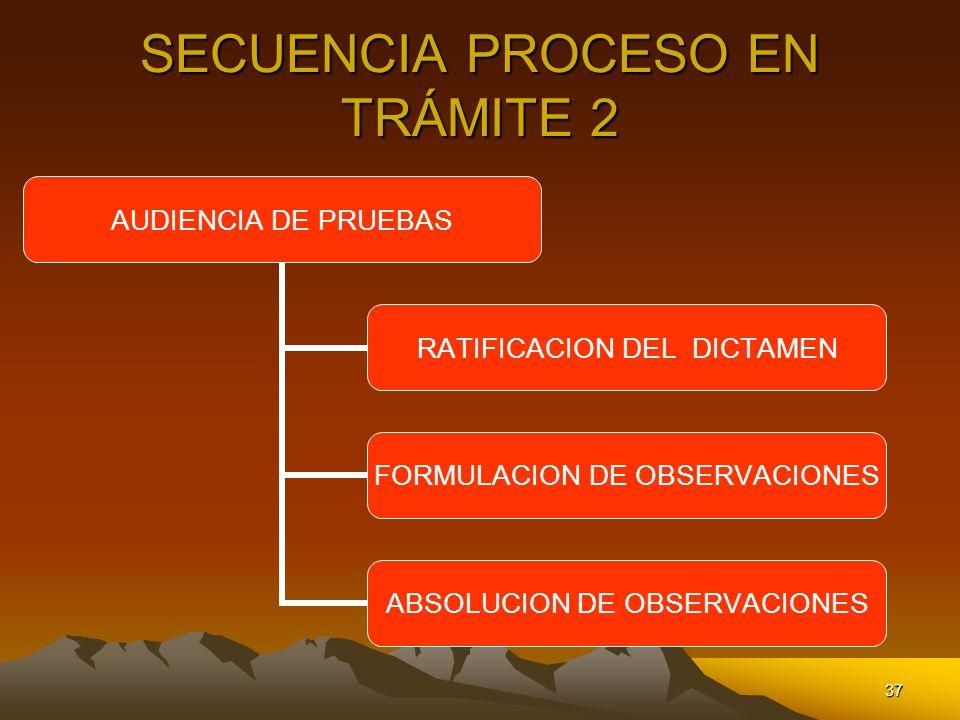SECUENCIA PROCESO EN TRÁMITE 2