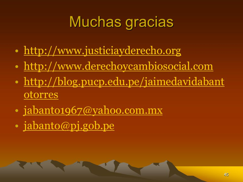 Muchas gracias http://www.justiciayderecho.org
