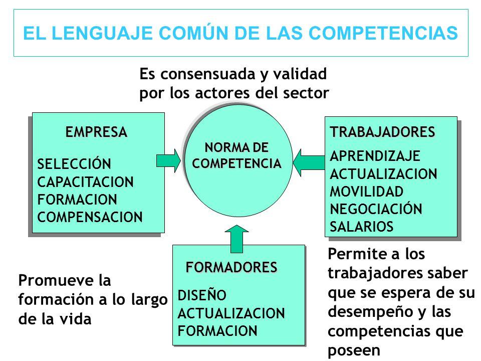 EL LENGUAJE COMÚN DE LAS COMPETENCIAS