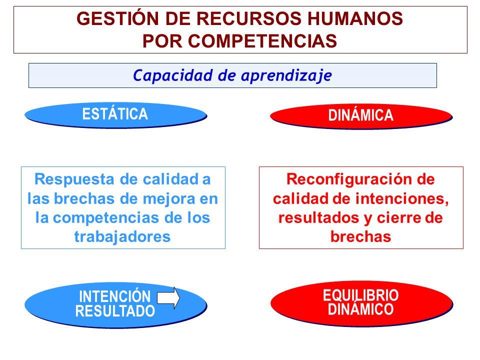 GESTIÓN DE RECURSOS HUMANOS Capacidad de aprendizaje