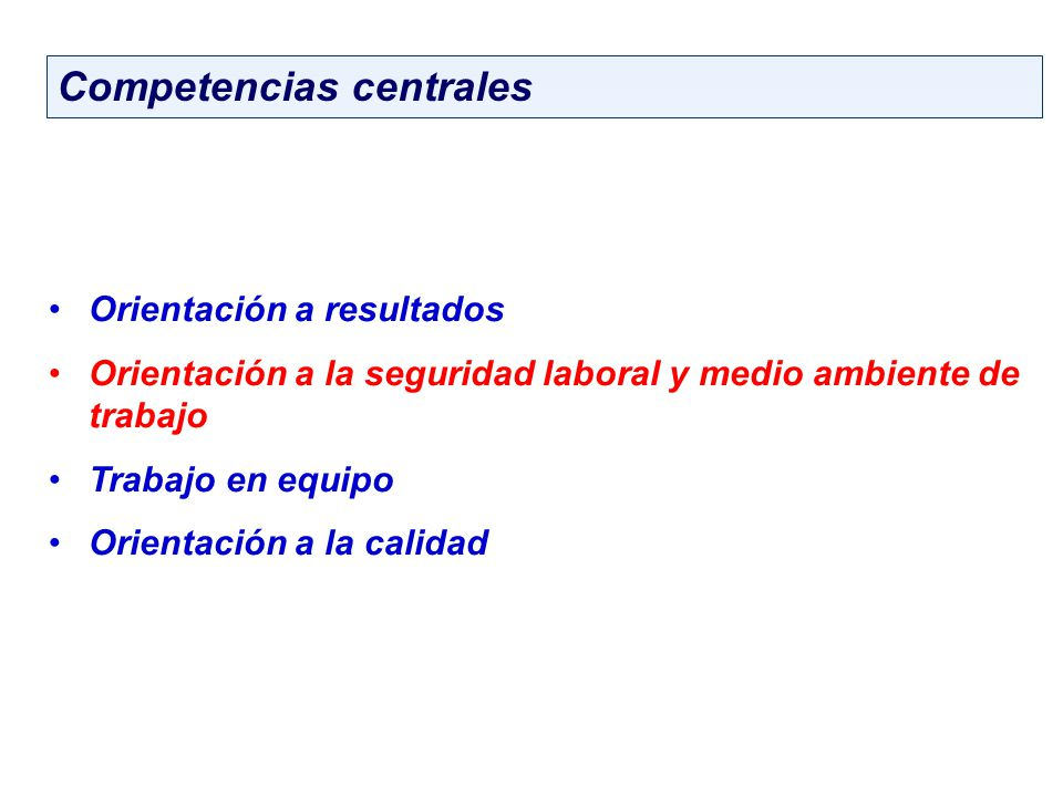 Competencias centrales