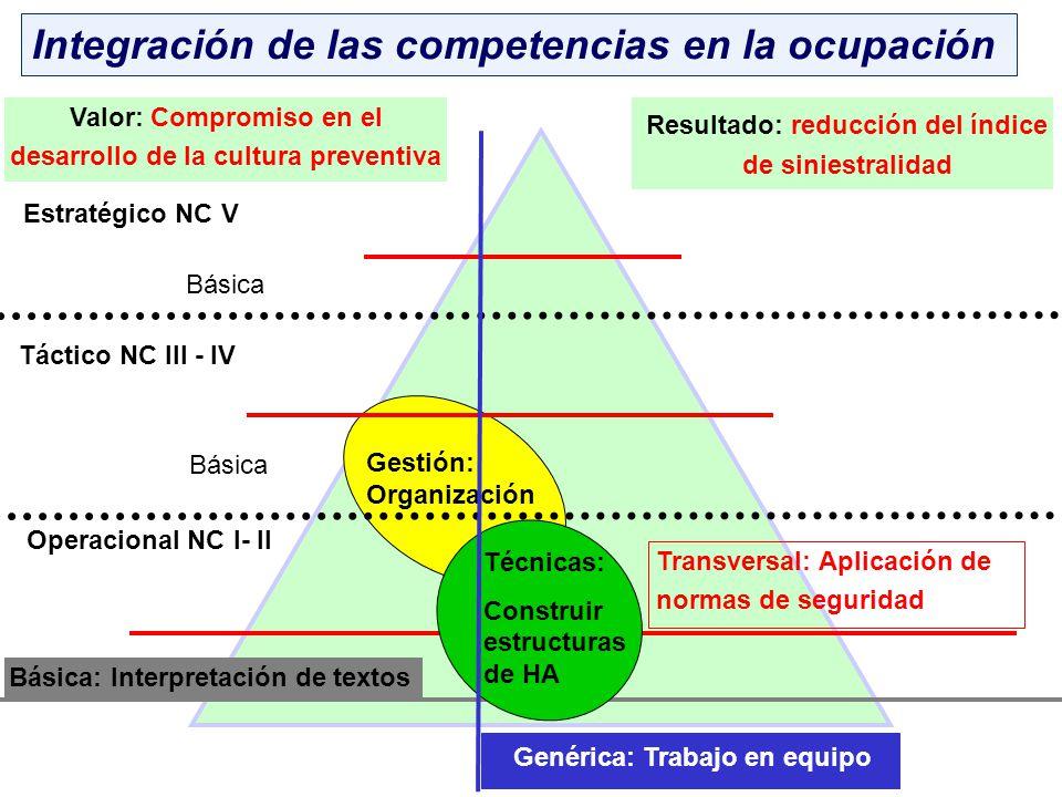 Integración de las competencias en la ocupación