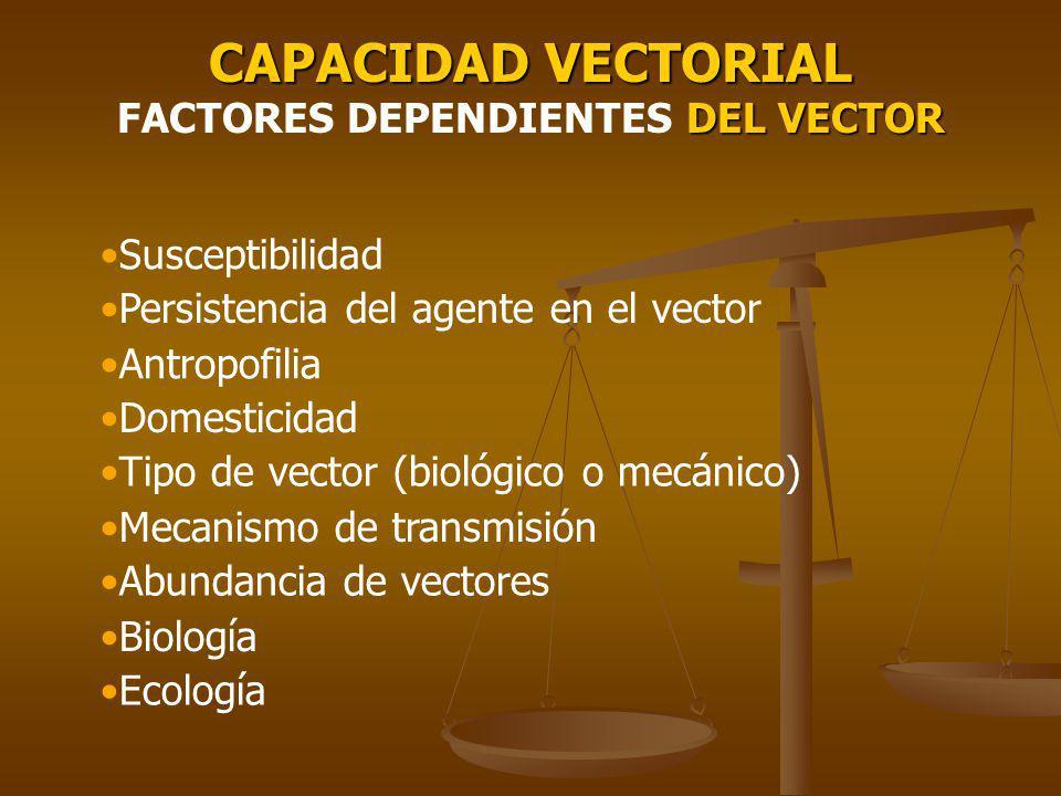 CAPACIDAD VECTORIAL FACTORES DEPENDIENTES DEL VECTOR