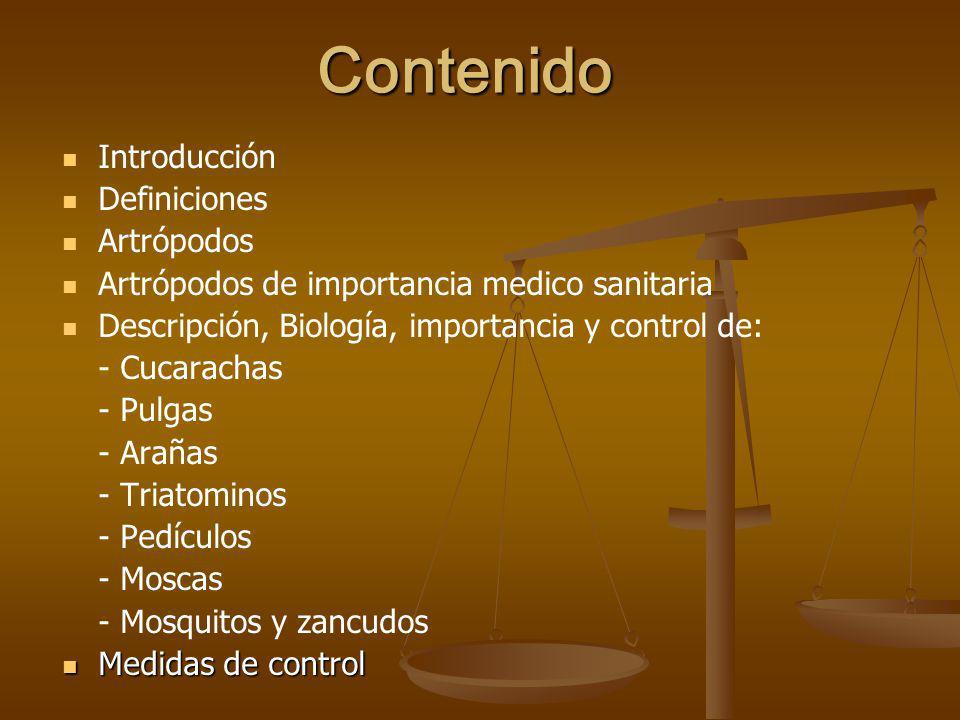 Contenido Introducción Definiciones Artrópodos