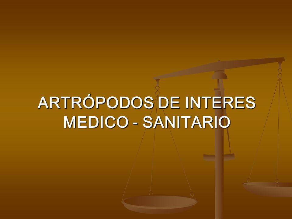 Artrópodos DE INTERES MEDICO - SANITARIO