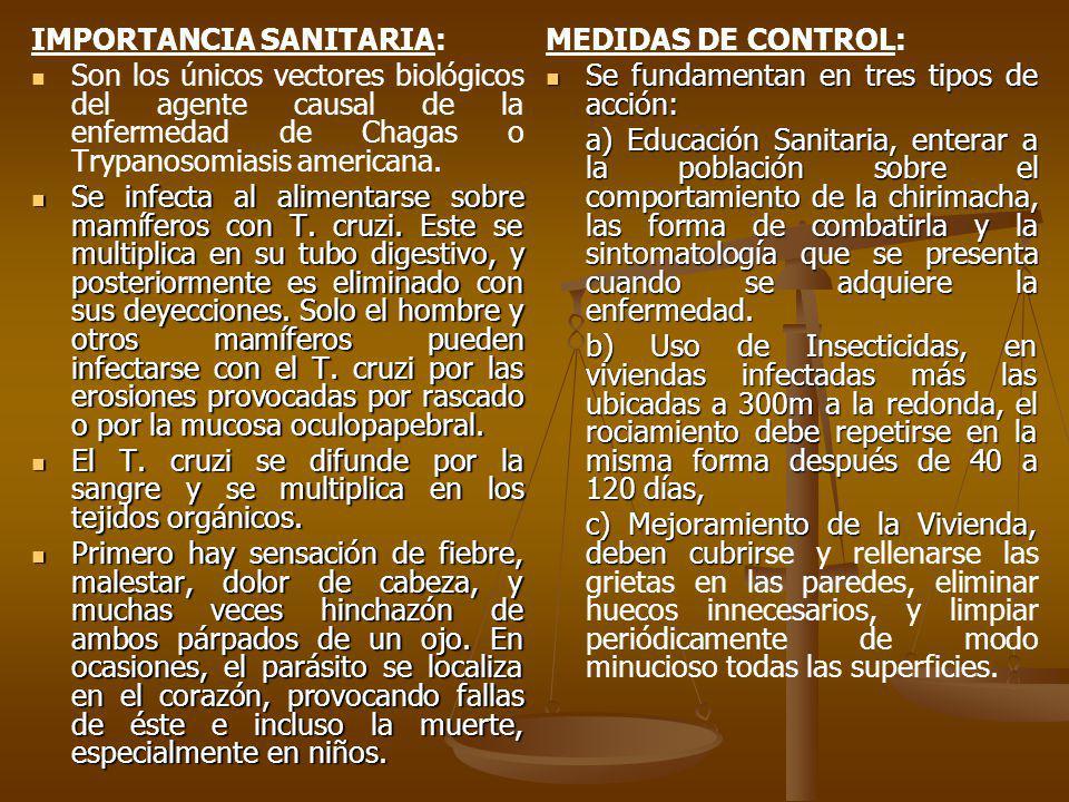 IMPORTANCIA SANITARIA:
