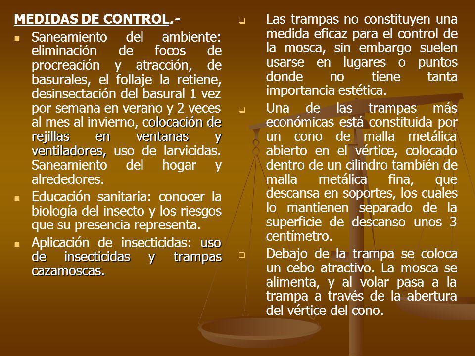 MEDIDAS DE CONTROL.-