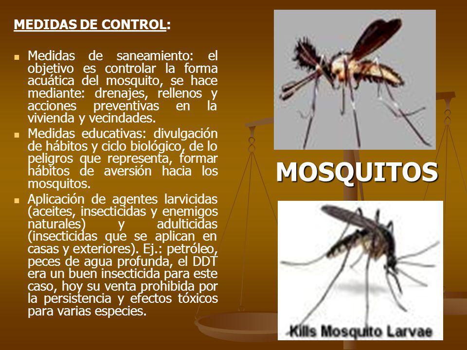 MOSQUITOS MEDIDAS DE CONTROL: