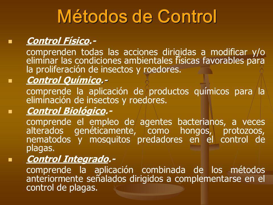 Métodos de Control Control Físico.-