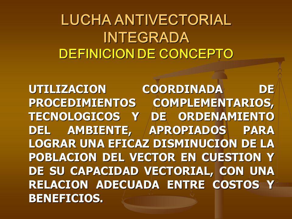 LUCHA ANTIVECTORIAL INTEGRADA DEFINICION DE CONCEPTO