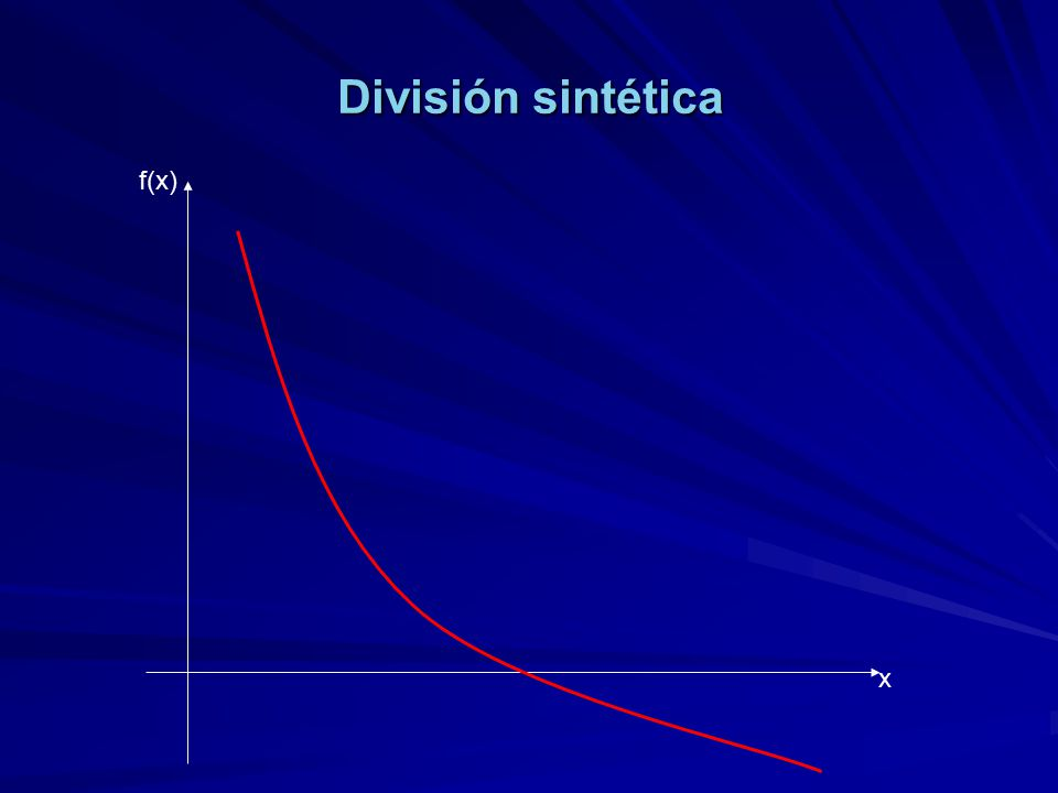 División sintética f(x) x