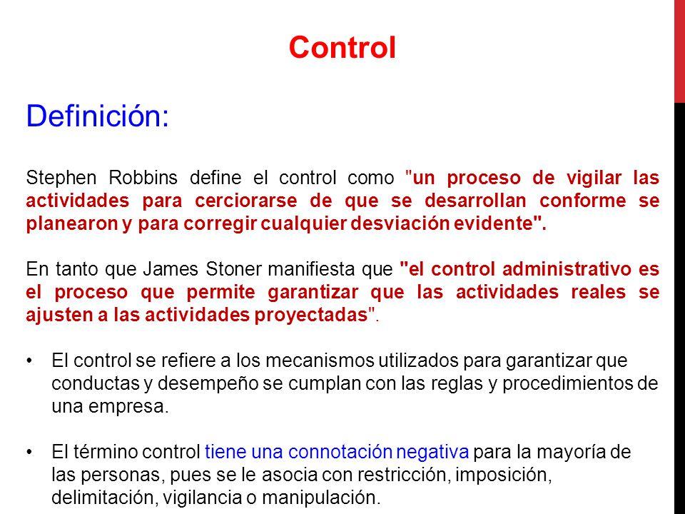 Control Definición: