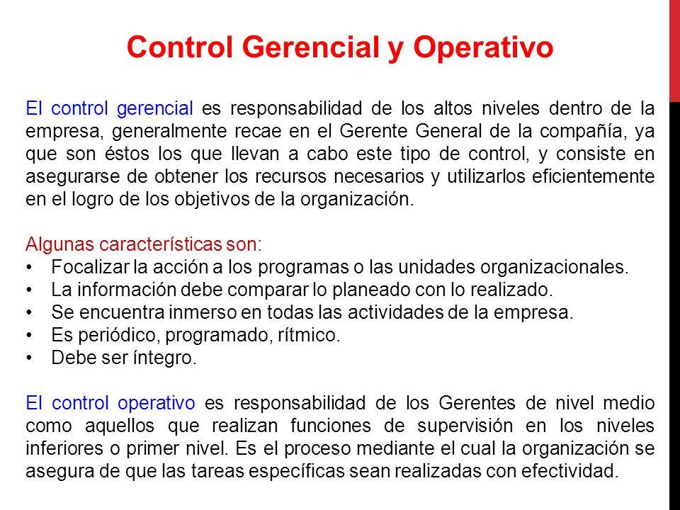 Control Gerencial y Operativo