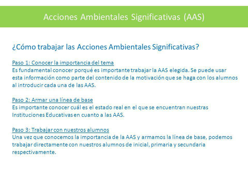 Acciones Ambientales Significativas (AAS)