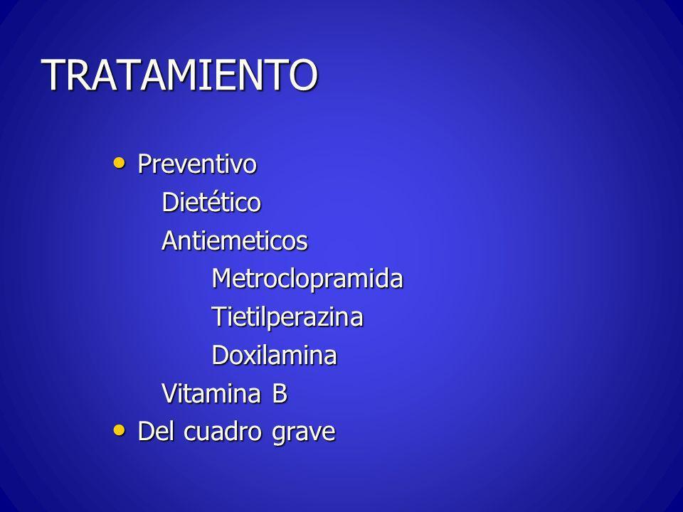 TRATAMIENTO Preventivo Dietético Antiemeticos Metroclopramida