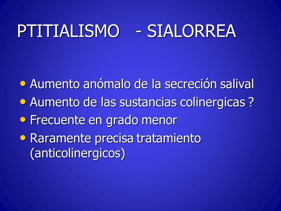 PTITIALISMO - SIALORREA